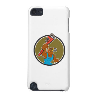 Hawk Plumber Wrench Circle Cartoon iPod Touch 5G Cases