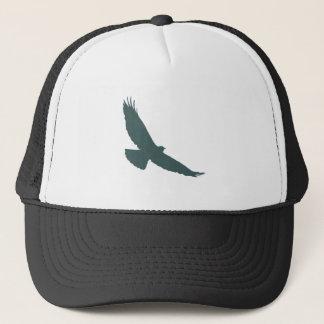 Hawk Raptor Predator Bird Silhouette Trucker Hat