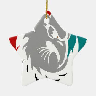Hawk Security Protection Shield Ceramic Ornament