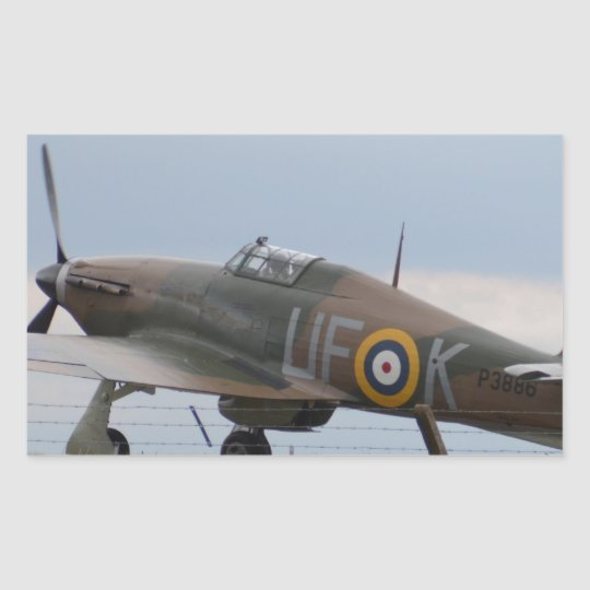 Hawker Hurricane Three Quarter View Sticker