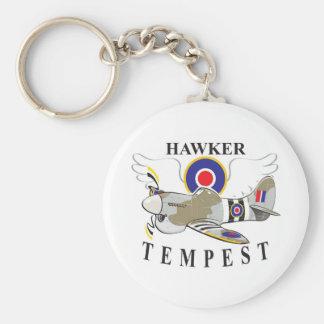 hawker tempest basic round button keychain