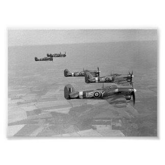 Hawker Typhoons of 56 Sqn. RAF Poster