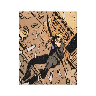 Hawkeye Falling From Window Canvas Print