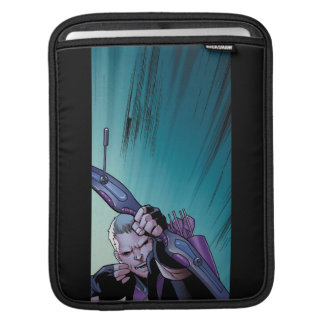 Hawkeye Firing Arrows Comic Panel Sleeve For iPads