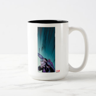 Hawkeye Firing Arrows Comic Panel Two-Tone Coffee Mug