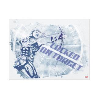 Hawkeye Locked On Target Canvas Print