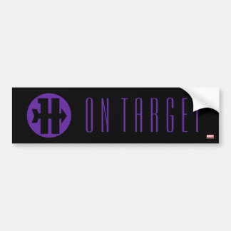 Hawkeye On Target Logo Bumper Sticker