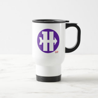 Hawkeye On Target Logo Travel Mug