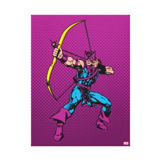 Hawkeye Retro Character Art Canvas Print