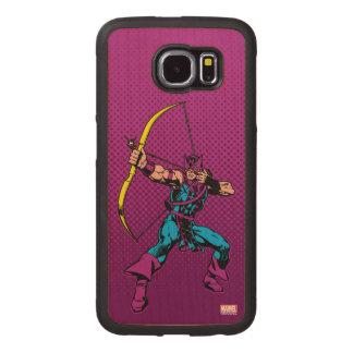 Hawkeye Retro Character Art Wood Phone Case