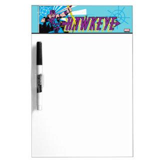 Hawkeye Retro Comic Graphic Dry Erase Board