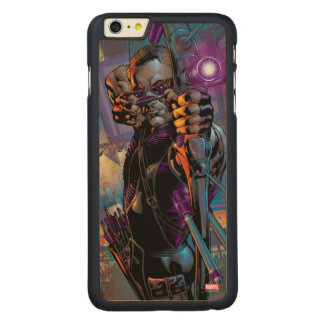 Hawkeye Taking Aim Carved® Maple iPhone 6 Plus Case