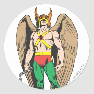 Hawkman Classic Round Sticker
