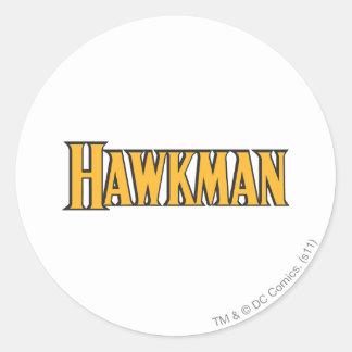 Hawkman Logo Round Sticker