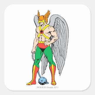 Hawkman Standing Pose Square Sticker