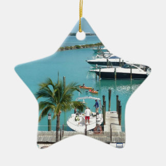 Hawk's Cay Marina Ceramic Ornament