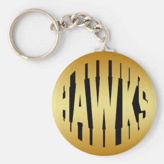HAWKS - GOLD TEXT KEYCHAIN