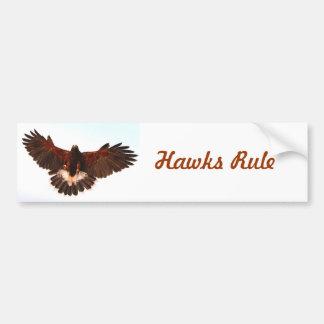 Hawks Rule Bumper Sticker