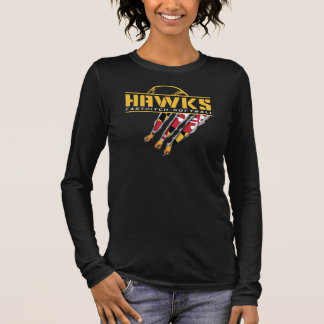 Hawks Womens Long Sleeve - Black Long Sleeve T-Shirt