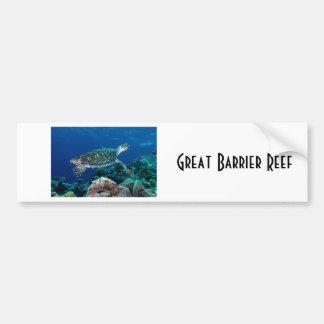 Hawksbill Sea Turtle Great Barrier Reef Coral Sea Bumper Sticker