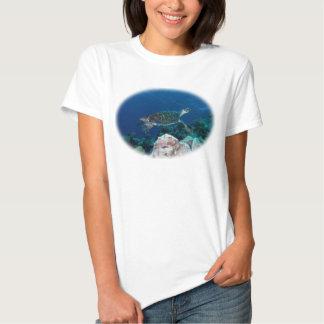 Hawksbill Sea Turtle Great Barrier Reef Coral Sea T Shirt