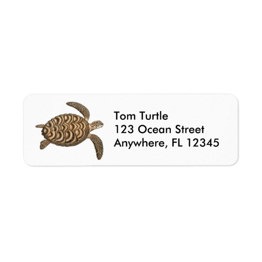 Hawksbill Sea Turtle Label
