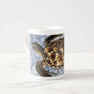 Hawksbill Sea Turtle Vintage Illustration Tea Cup