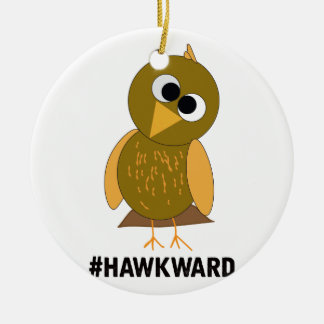 hawkward ceramic ornament