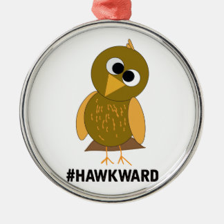 hawkward metal ornament