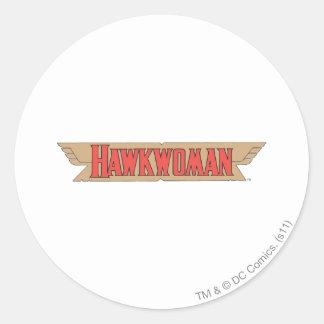 Hawkwoman Logo Classic Round Sticker