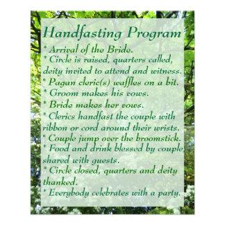Hawthorn & Oak Handfasting Program with Notes Flyer