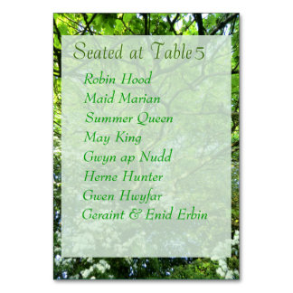 Hawthorn & Oak Handfasting Table Card with Guests