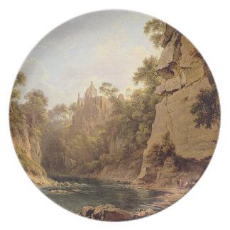 Hawthornden Castle, near Edinburgh, c.1820-22 (oil Party Plate