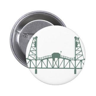 Hawthorne Bridge 2 Inch Round Button