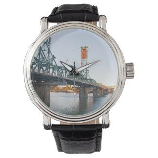 Hawthorne Bridge Portland Daytime Wrist Watches