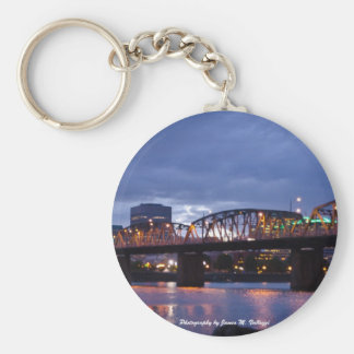 Hawthorne Bridge Portland, Oregon Basic Round Button Keychain