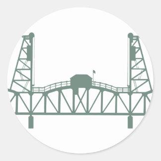 Hawthorne Bridge Round Sticker