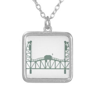 Hawthorne Bridge Silver Plated Necklace