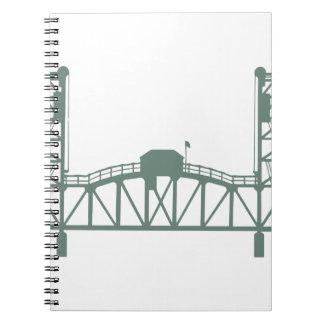 Hawthorne Bridge Spiral Note Book