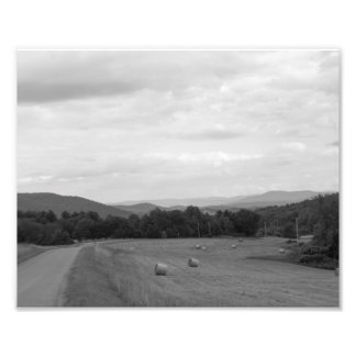Hay Bails on the Country Side Photo Print