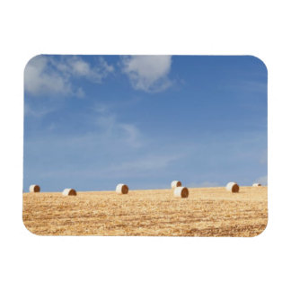 Hay Bales on Field Rectangular Photo Magnet