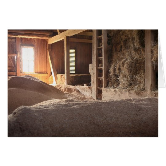 Hay Barn Filled With Sun Card