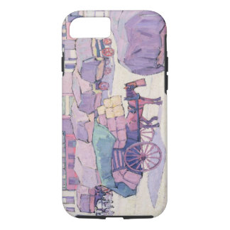 Hay Carts, Cumberland Market (oil on canvas) iPhone 7 Case