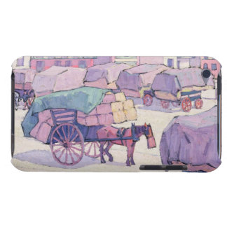 Hay Carts, Cumberland Market (oil on canvas) iPod Case-Mate Case