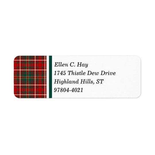 Hay Clan Red and Green Scottish Tartan