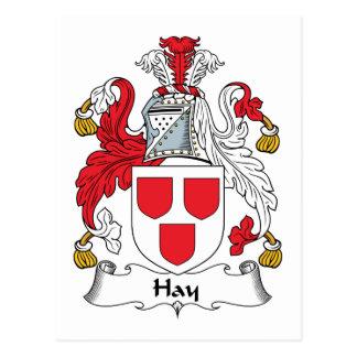 Hay Family Crest Postcard