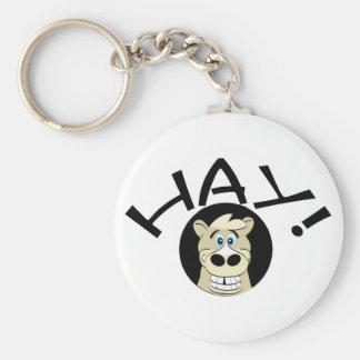 Hay Horse Keychain