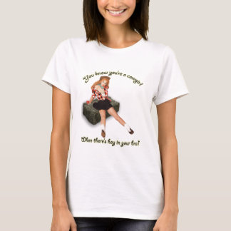 Hay in Bra Pinup T-Shirt