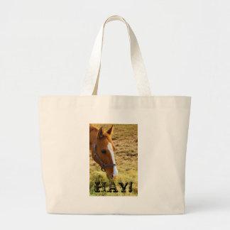 Hay! Large Tote Bag