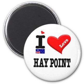HAY POINT - I Love 2 Inch Round Magnet